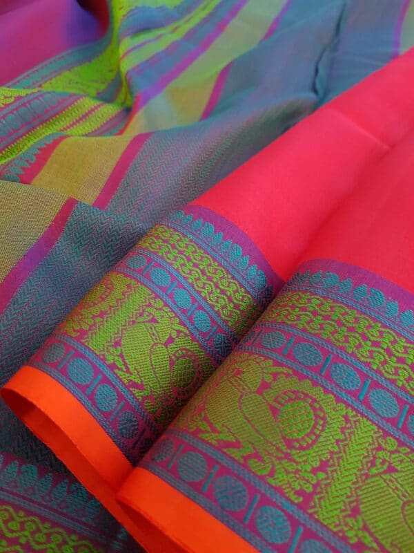 Pink soft silk saree2