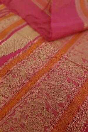 Rani pink kanchi cotton saree1