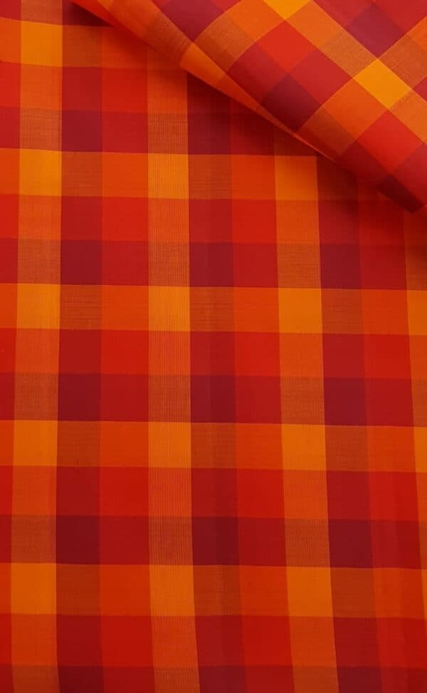 Red checked silk