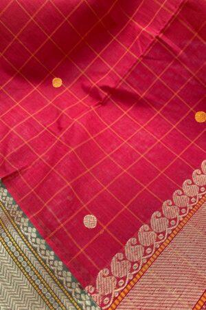 Red kanchi cotton dupatta1