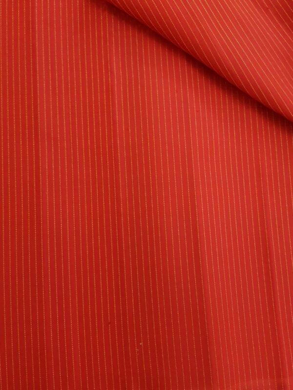 Red zari lined fabric