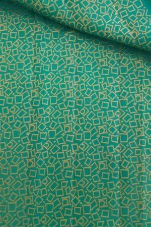 Sapphire green brocade fabric