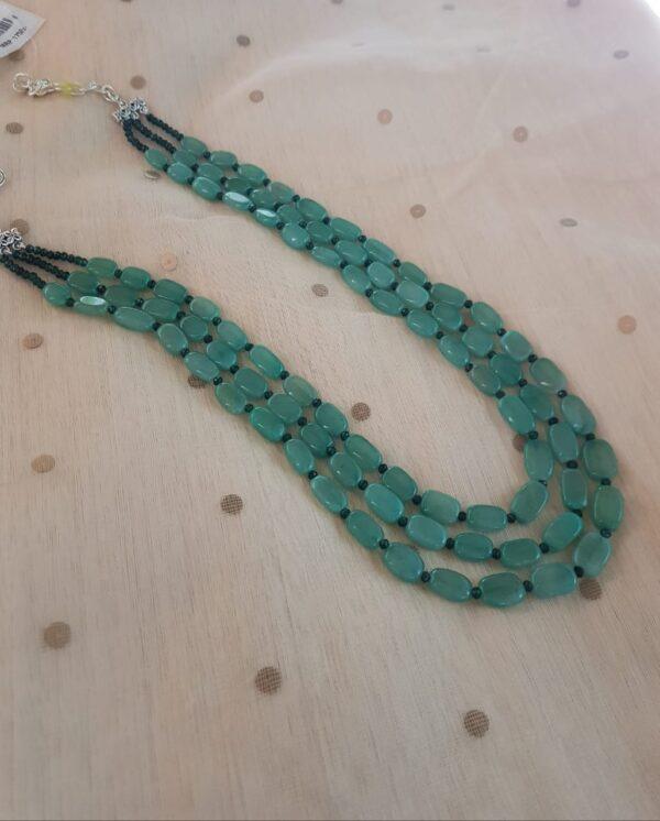 Sea green bead string