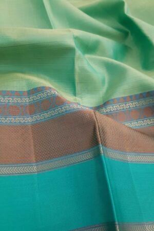 Sea green soft silk saree2