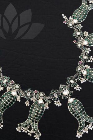 Silver fish neckpiece