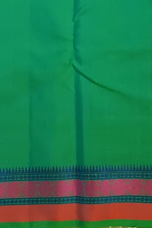 Teal green soft silk saree4