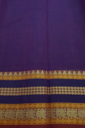 Violet kanchi cotton saree4
