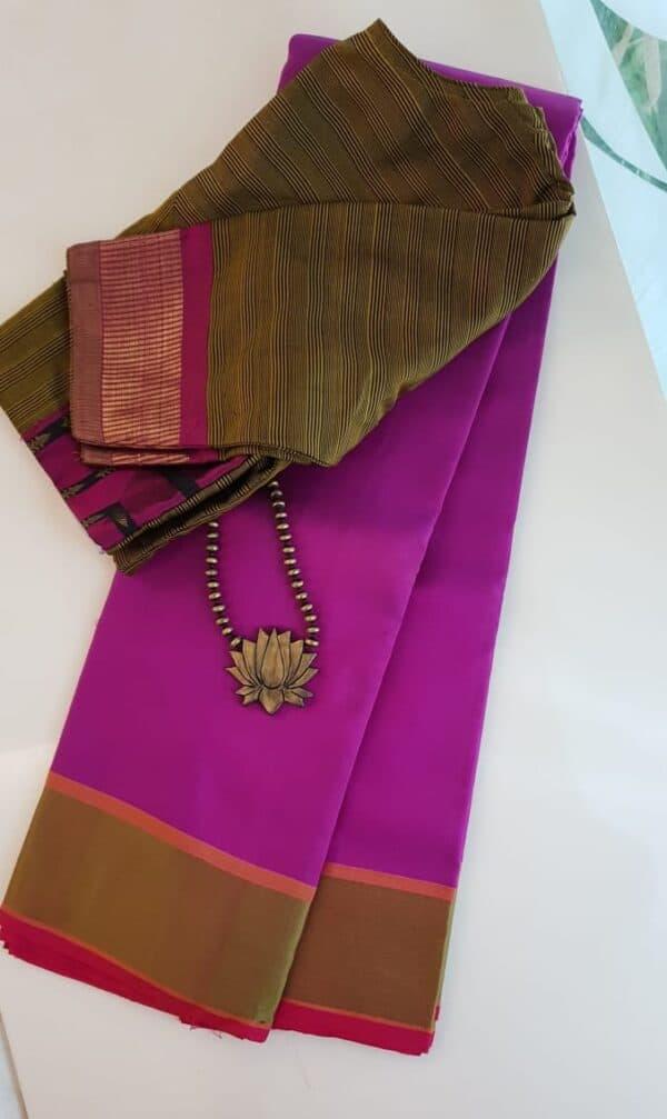 Violet soft silk saree
