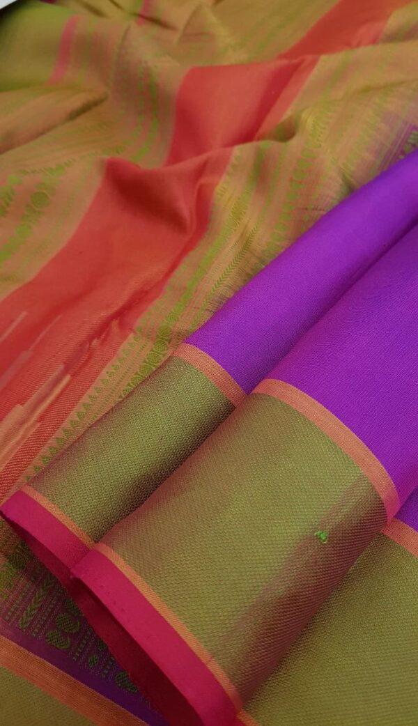 Violet soft silk saree1