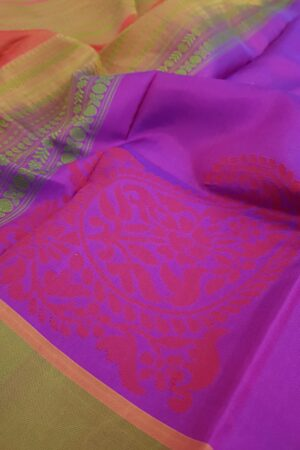 Violet soft silk saree3