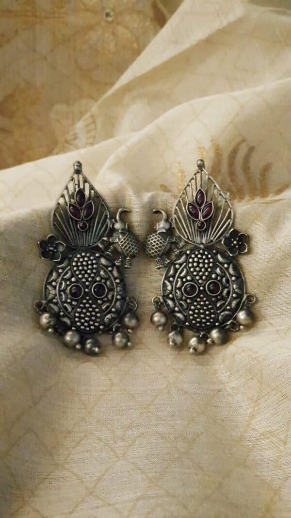 silver earrings 1