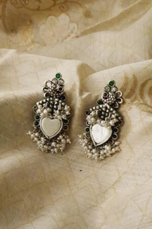 silver earrings with pearls1