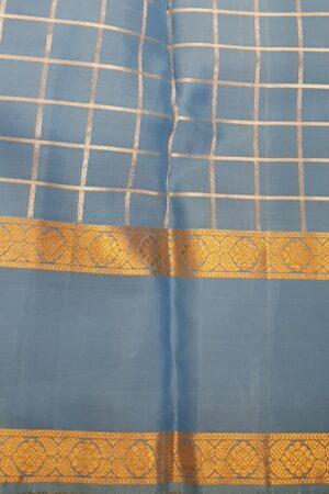 Ananda blue kanchipuram silk saree3