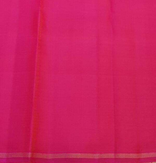 Beige and pink half and half kanchipuram silk saree4