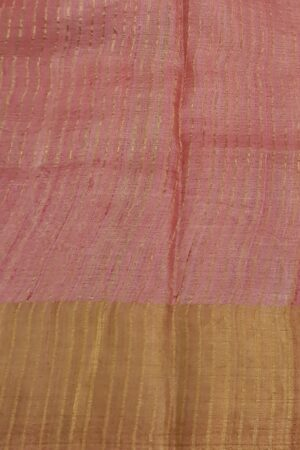 Beige with pink zari border tussar saree4