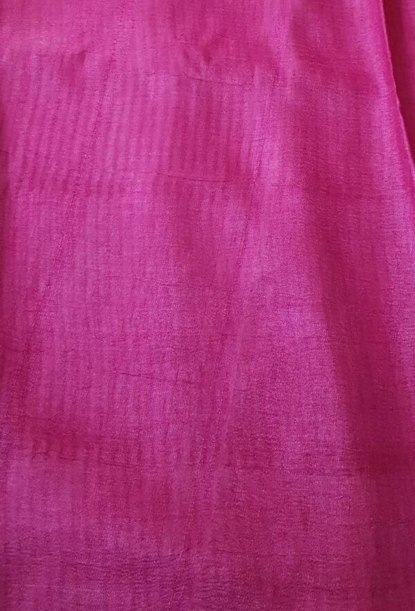 Black tussar saree with discharge prints A3