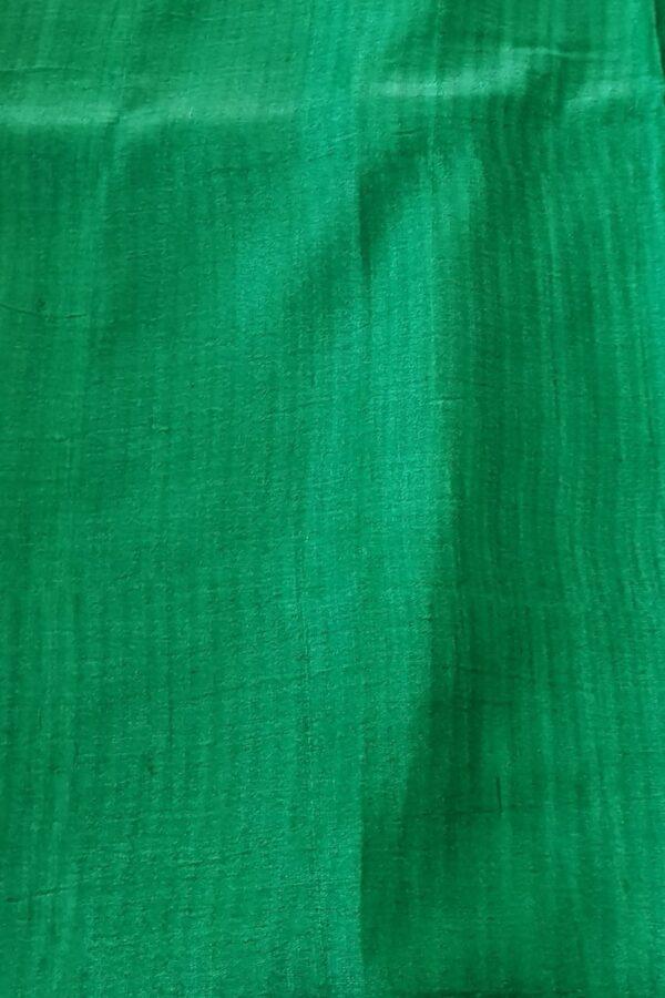 Black tussar saree with discharge prints b4