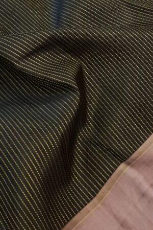 Black with mauve border kanchipuram silk saree2