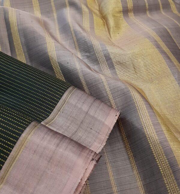 Black with mauve border kanchipuram silk saree3
