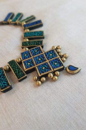 Blue green terracotta necklace2