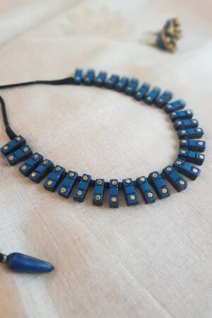 Blue terracotta necklace