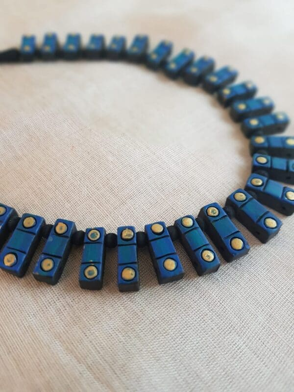 Blue terracotta necklace1