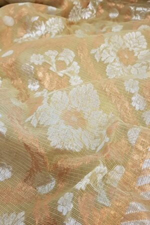 Butter cream zari kota saree1