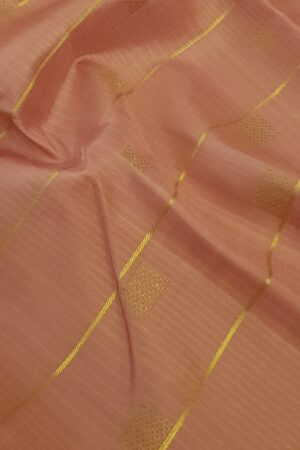 Dusty pink kanchipuram silks aree with thread zari weaving2