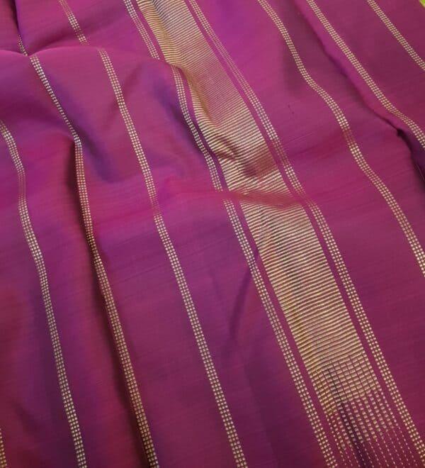 Dusty rose kanchipuram silk saree with pink checks2