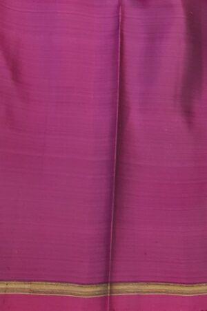 Dusty rose kanchipuram silk saree with pink checks3