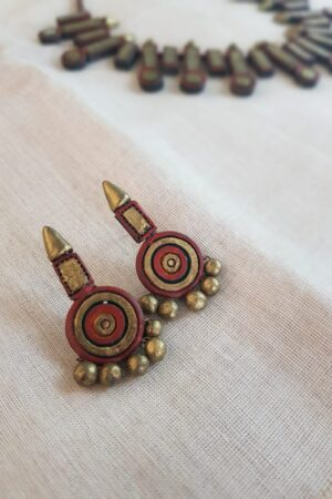Gold and rust terracotta necklace1