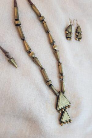 Gold terracotta long chain