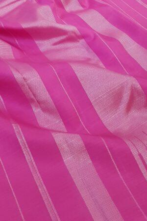 Green and pink one side border kanchipuram silk saree3