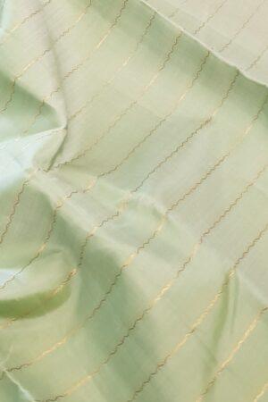 Green kanchipuram silk saree with pink pallu2