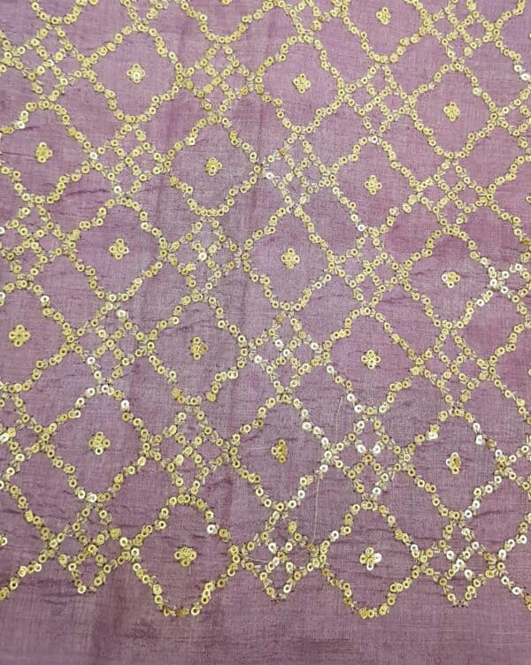 Lavender mist tussar saree with embroidered pallu3
