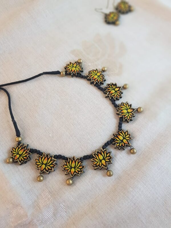 Lotus terracotta necklace