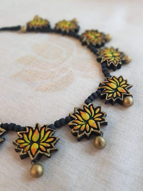 Lotus terracotta necklace2