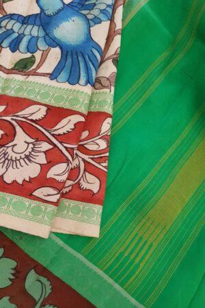 Nisargah kanchi silk kalamkari saree 1