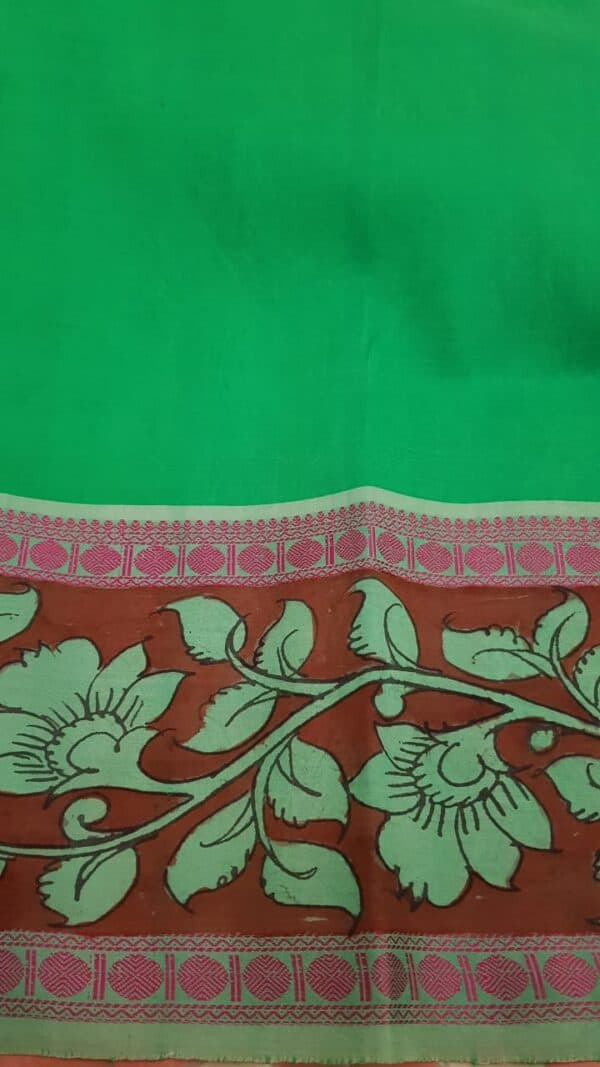 Nisargah kanchi silk kalamkari saree 2