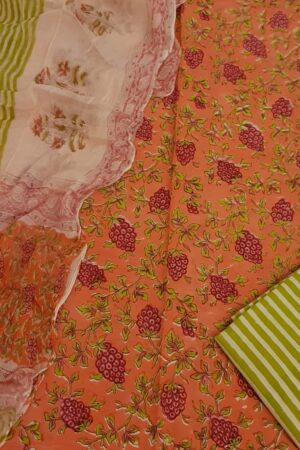 Orange and pink cotton set