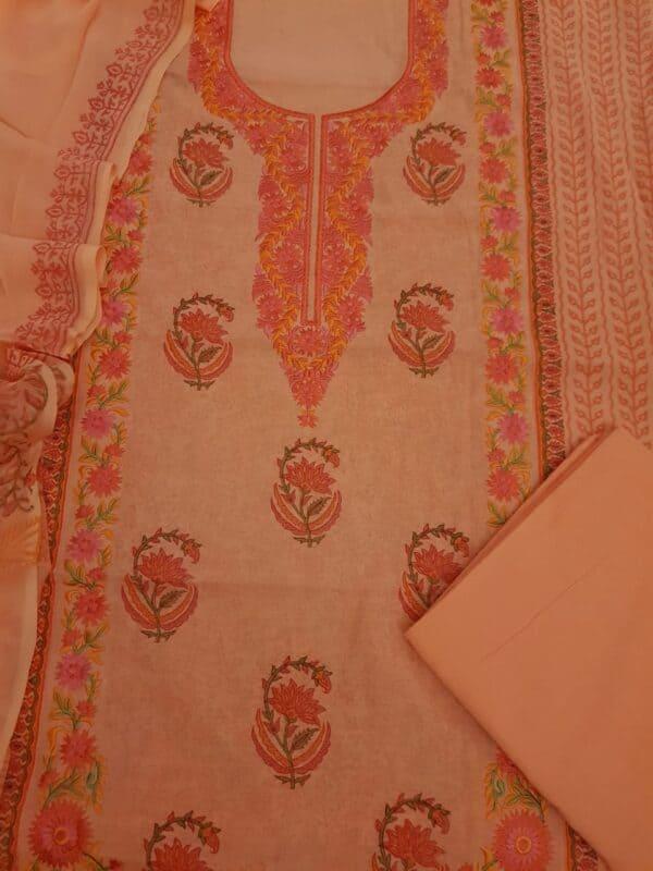 Orange embroidered suit set