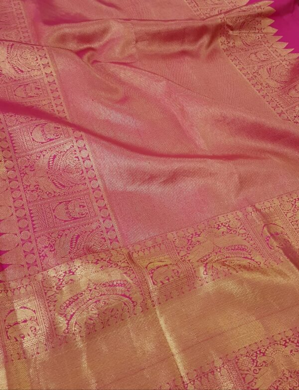 Pale lilac organza with pink Pale lilac organza with pink kanchipuram border1kanchipuram border1