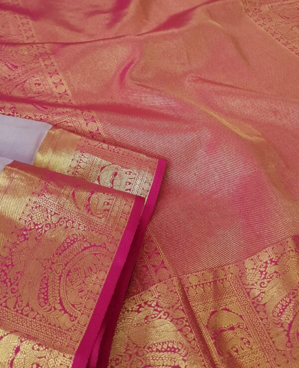 Pale lilac organza with pink Pale lilac organza with pink kanchipuram border2kanchipuram border2