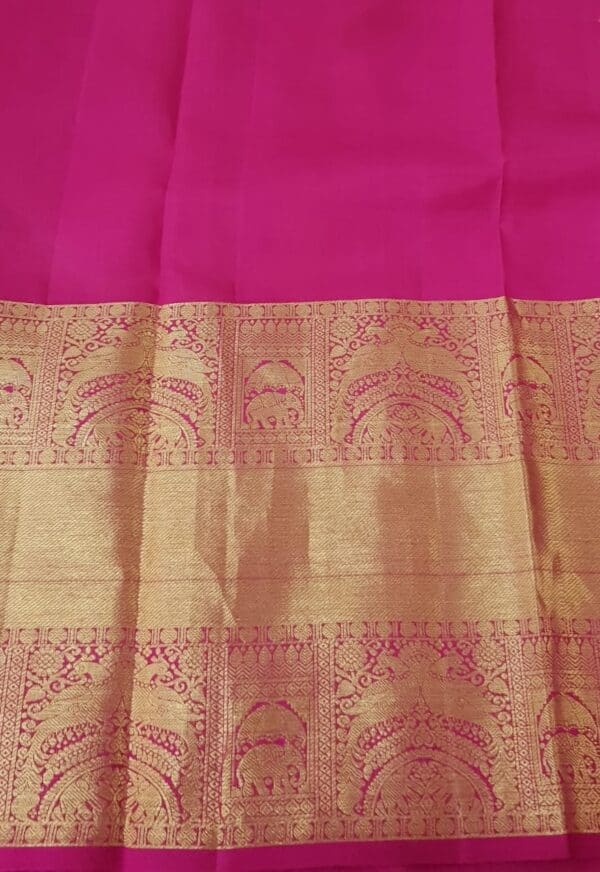 Pale lilac organza with pink kanchipuram border4