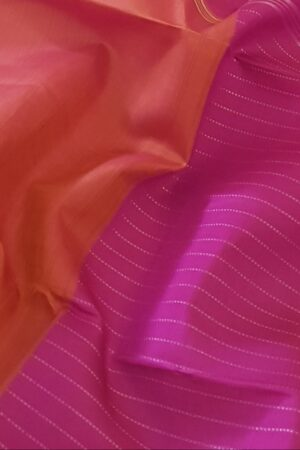Pink and orange half and halfPink and orange half and half kanchipuram silk saree2 kanchipuram silk saree2