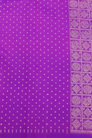 Pink and violet half and half kanchipuram silk saree4