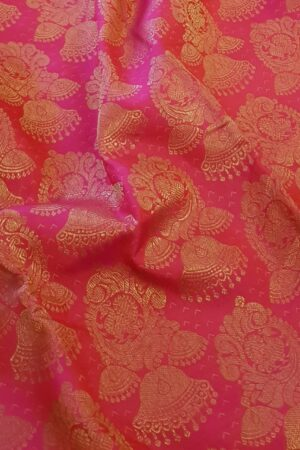 Pink brocade kanchipuram silk saree1