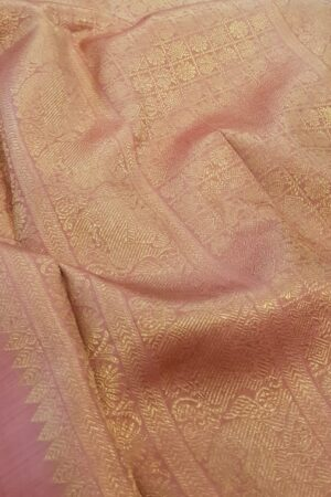 Pink brocade kanchipuram silk saree2