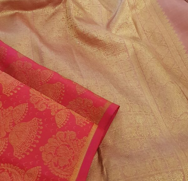 Pink brocade kanchipuram silk saree3