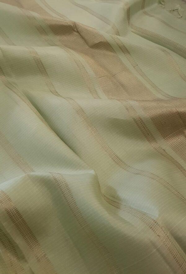 Pista green kanchipuram silk saree1